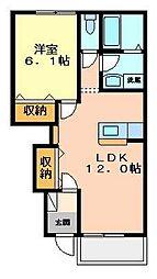 カネイコート日開野II[1階]の間取り
