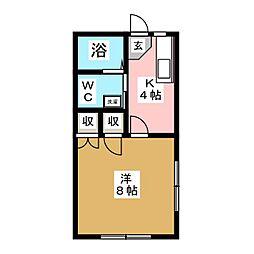 ハイツNEMOTO[1階]の間取り