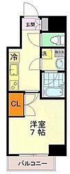 東京メトロ千代田線 乃木坂駅 徒歩2分の賃貸マンション 9階1Kの間取り