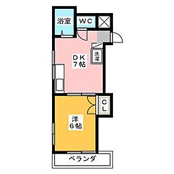 レジデンスK[2階]の間取り