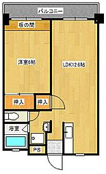 森藤第一ビル[403号室]の間取り