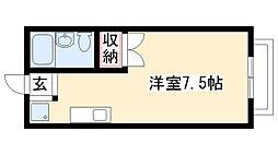 愛知県名古屋市瑞穂区軍水町3丁目の賃貸アパートの間取り