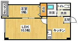 アザリア山本駅前[3階]の間取り