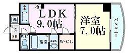ノルデンタワー新大阪アネックス 11階1LDKの間取り