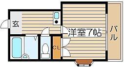 ラパンジール恵美須3[6階]の間取り