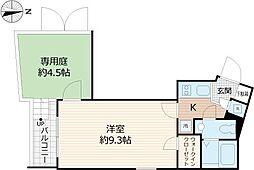 Beverly Homes 下赤塚 地下2階1Kの間取り