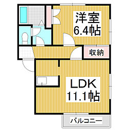 フレグランスクローカス A棟[2階]の間取り