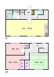 [テラスハウス] 神奈川県横浜市青葉区大場町 の賃貸【/】の間取り