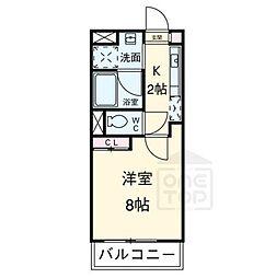 シティライフ覚王山北[2階]の間取り