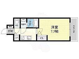S-RESIDENCE江坂Eminence 7階1Kの間取り