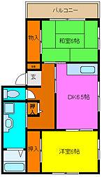 コンフォート高田[2階]の間取り