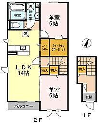 DLフィールダー [D-ROOM][2階]の間取り