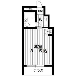 東京都練馬区向山の賃貸マンションの間取り