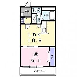 アドニスコートパート1[4階]の間取り
