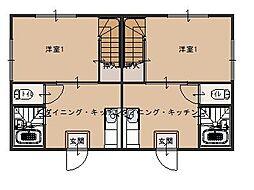 シーパレス玉田[D号室号室]の間取り