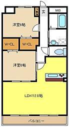 愛知県名古屋市港区高木町2丁目の賃貸マンションの間取り