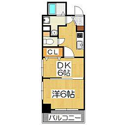 エステムプラザ京都ステーションレジデンシャル[304号室]の間取り