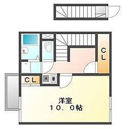 JR高徳線 昭和町駅 徒歩7分の賃貸アパート 2階1Kの間取り