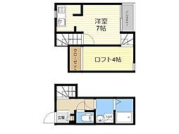 JR肥薩線 日当山駅 徒歩23分の賃貸アパート 1階1SKの間取り
