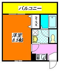 アデレード・長田 209号室[2階]の間取り