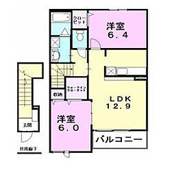 グレイスガーデン[2階]の間取り