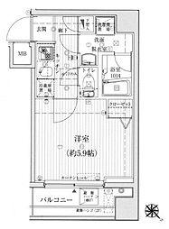 リライア吉野町[505号室]の間取り