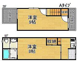 [一戸建] 大阪府大阪市住之江区御崎1丁目 の賃貸【/】の間取り