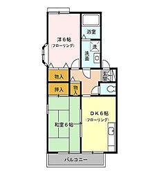 東京都練馬区三原台3丁目の賃貸アパートの間取り