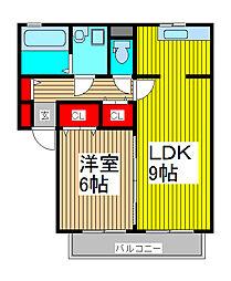 埼玉県川口市柳崎3丁目の賃貸アパートの間取り