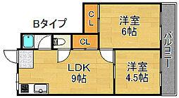 タカイレジデンス[3階]の間取り