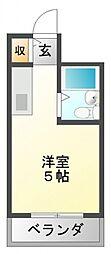江坂ガーデンハイツ[3階]の間取り