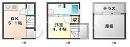 [テラスハウス] 兵庫県神戸市垂水区平磯4丁目 の賃貸【兵庫県 / 神戸市垂水区】の間取り