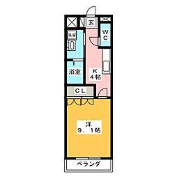 グリーングラス弐番館[1階]の間取り