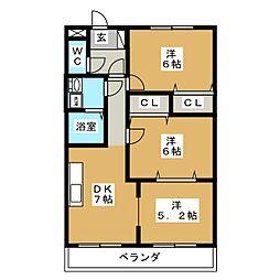 サンモール21[1階]の間取り