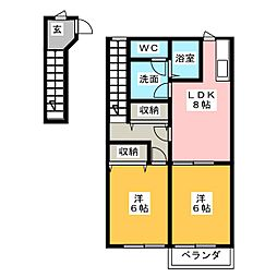 アルファパーク I[2階]の間取り
