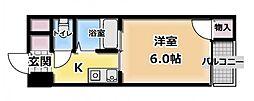 マンションデウミI[3階]の間取り
