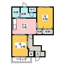 フリージアガーデンI[1階]の間取り