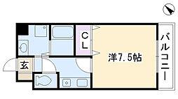 大阪府摂津市正雀4丁目の賃貸マンションの間取り