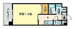福岡県北九州市小倉北区熊本4丁目の賃貸マンションの間取り