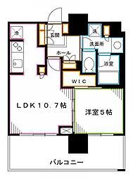 JR中央本線 中野駅 徒歩6分の賃貸マンション 9階1LDKの間取り
