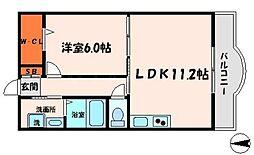 BONHEUR下島[2階]の間取り