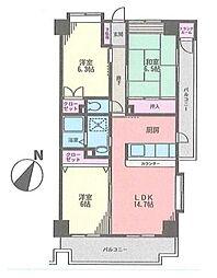 サニーヒル石川3[603号室]の間取り
