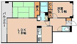 ロイヤルクローバー[2階]の間取り