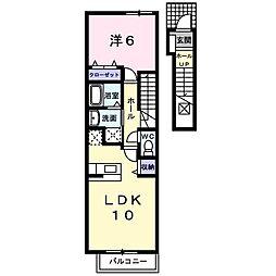 フォンテーヌブロー[2階]の間取り