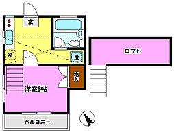 エステート小金22[105号室]の間取り