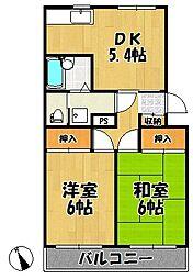 野寺マンション[3階]の間取り