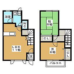[テラスハウス] 青森県青森市富田3丁目 の賃貸【/】の間取り