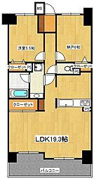 ライオンズマンション本八幡第2[3階]の間取り