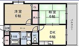 ハイネスヴェルデ姫島[303号室]の間取り