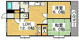 ラグジェレディK壱号館[3階]の間取り